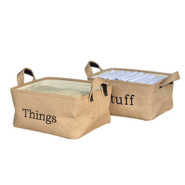 Anese Z Style Home Decor Storage Box Canvas Make Up Brush Cosmetic Stationery Book And Magazine