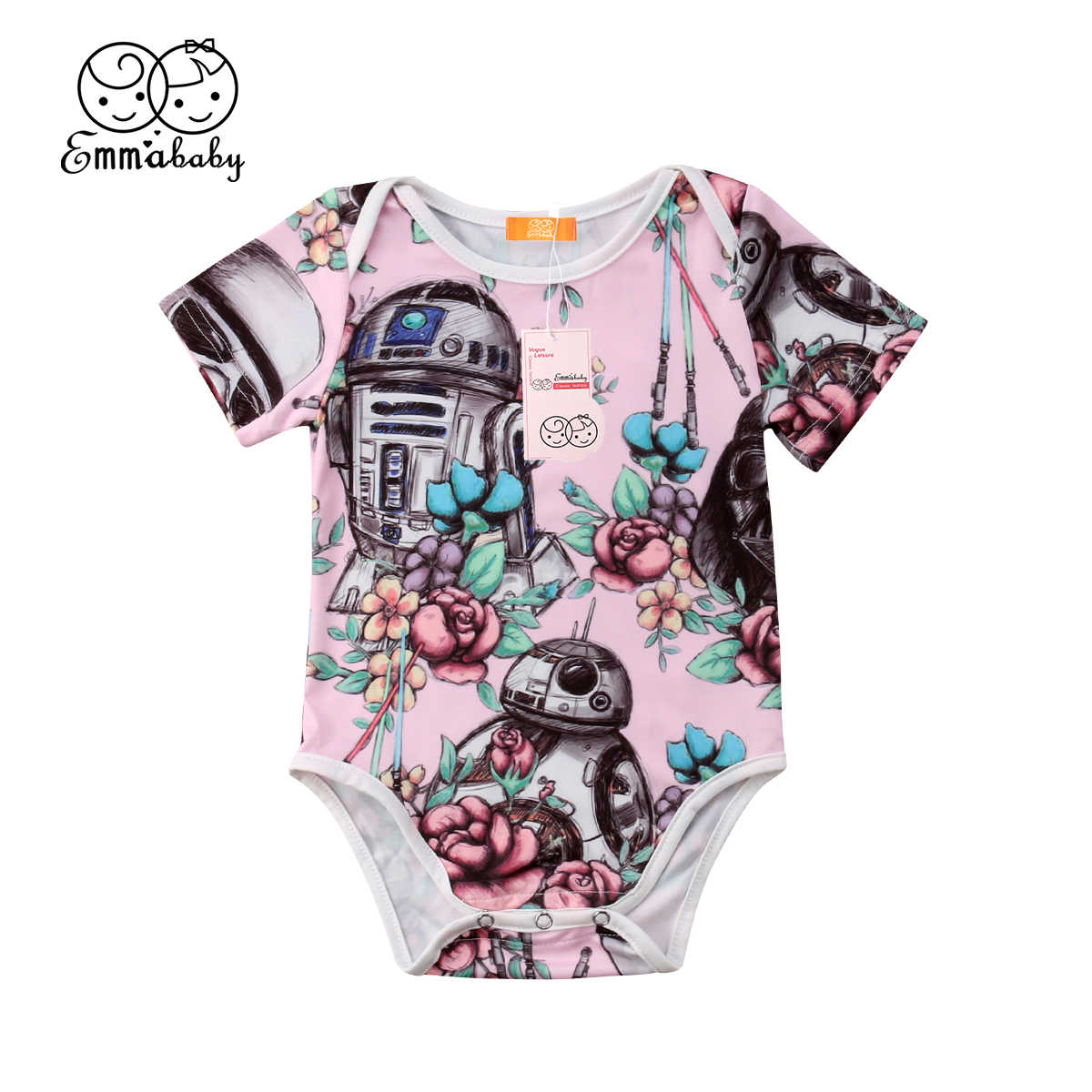 Neugeborenes kind Kinder Baby Mädchen Star Wars Body Overall Sunsuit Sommer Kleidung Kurzarm Outfits Bodys