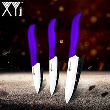 "XYj Kitchen Ceramic Knives Set Tool 3"" 4"" 5"" inch Red Purple Blue Green Handle Zirconiun Oxide Cermaic Knife Cooking Accessories(China)"