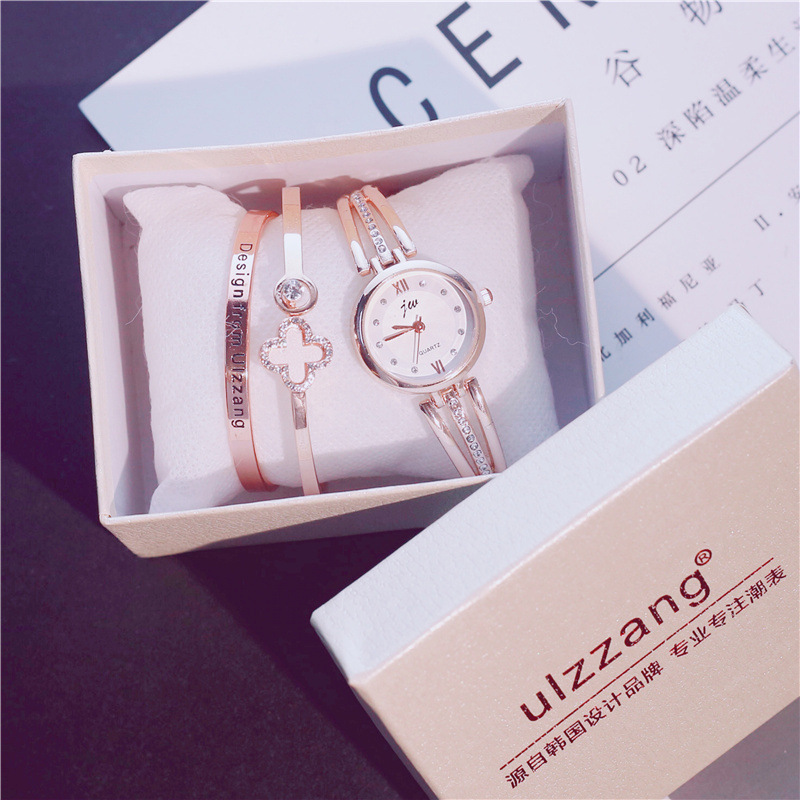 Luxury Exquisite Accessories Attached Women Watch&Two Bangles&Box Rose Gold Silver Ladies Wristwatches Bracelets Female HoursLuxury Exquisite Accessories Attached Women Watch&Two Bangles&Box Rose Gold Silver Ladies Wristwatches Bracelets Female Hours