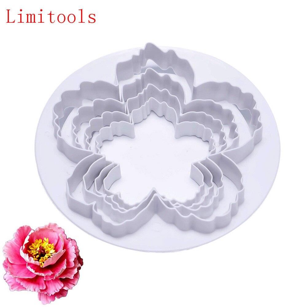 Kitchen,dining & Bar Home & Garden Linsbaywu 4pcs Peony Flower Petal Shape Cutter Fondant Cake Sugar Paste Icing Cutting Tool