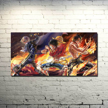 One Piece Strong World Characters Art Silk Fabric Poster Print 13×26 24×48 inch Monkey D Luffy ACE Boa Hancock Nami Pictures 030