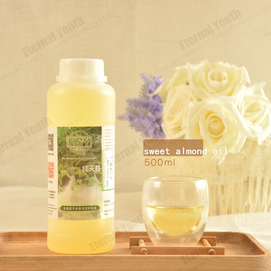 Almond oil  Handmade Soap Diy Material Base Sweet  Replenishment  Moisturizing 500ml  Salon Spa