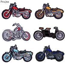 Prajna DIY Biker Patch Iron On Patches For Clothing Motorcycle Embroidered Clothes Accessories Punk Badges Jackets