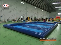 durable pvc removable square adult n kids inflatable ground pool