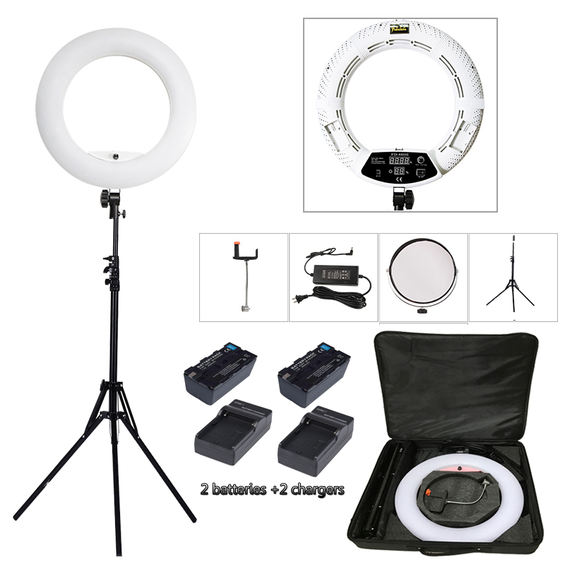 Yidoblo White FD 480II LED Ring lamp Light Make up Lighting sefie ring lamp set standing