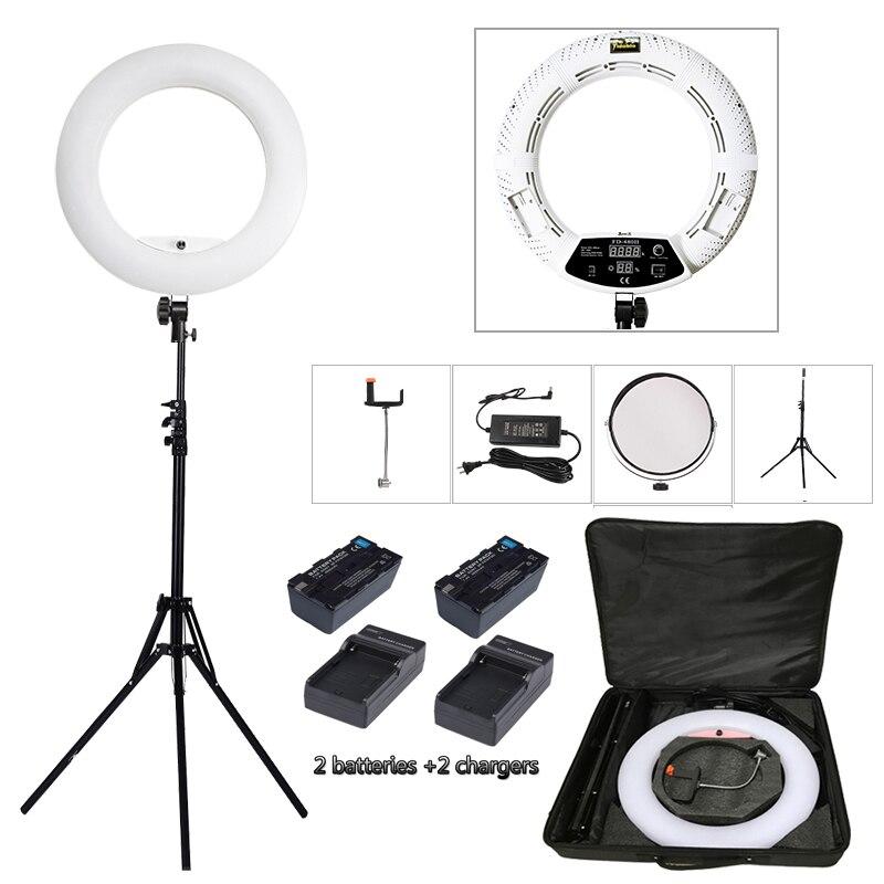 Yidoblo белый FD-480II светодиодный кольцо лампа составляют освещения селфи кольцо лампы комплект + Постоянный (2 м) + сумка + батареи