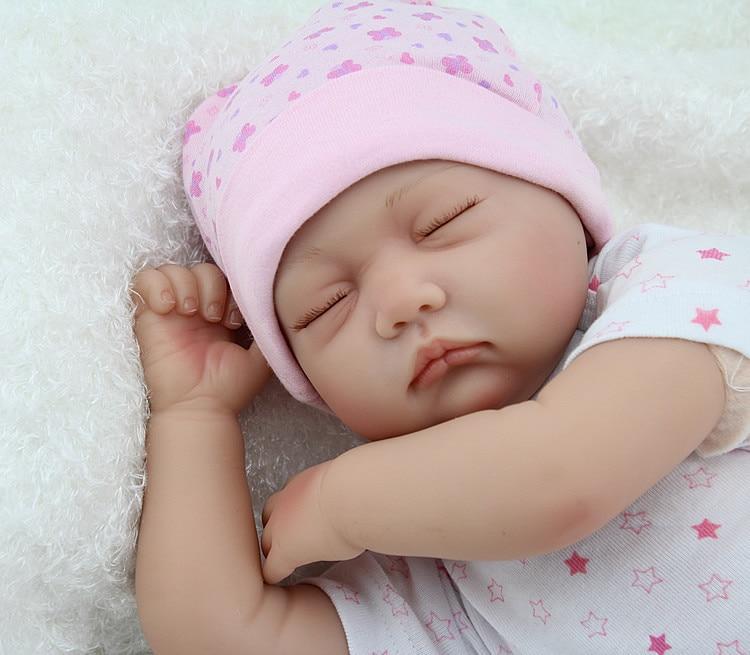 55cm silikona preporođeni bebe lutke zatvorene oči spavanje novorođenčeta vjeran najbolje baby doll igračke darove