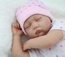 55 cm silicone bébés reborn poupées les yeux fermés de couchage nouveau-né bébé réaliste poupée meilleur bébé jouets cadeaux