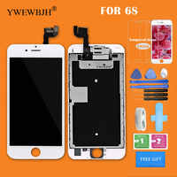 YWEWBJH AAA+++ Quality Full Set LCD Display For iPhone 6s LCD Display With Front Camera whitou Home Button Replacement Parts