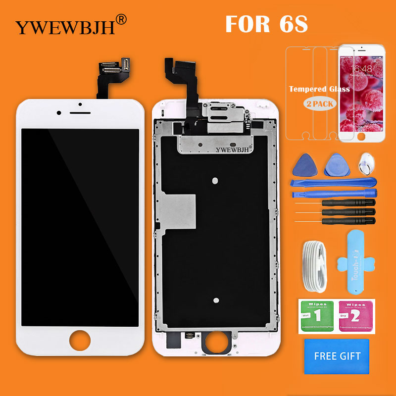 YWEWBJH AAA+++ Quality Full Set LCD Display For iPhone 6s LCD Display With Front Camera whitou Home Button Replacement Parts image