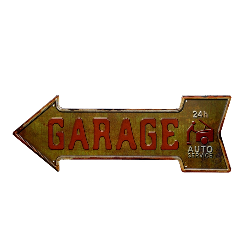 Arrow Gas Garage Tin Sign Metal Plate Vintage Bar Coffee Pub Cafe Decorative Advertising Board Wall Art Home Decor