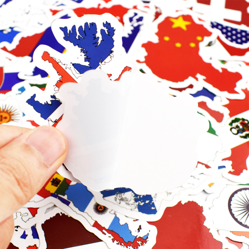 Image 4 - 50pcs National Flags Stickers Countries Map Travel Sticker DIY Computer Laptop Skin Vinyl Sticker for Motorcycle Car Suitcase-in Laptop Skins from Computer & Office