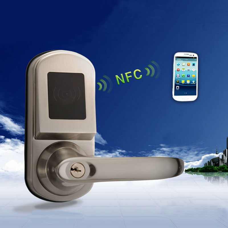 DL1140 Remote Hotel Smart Door Locks NFC Door Lock Mobile Phone Android 4.0  System Control Electric Locks +card In Locks From Home Improvement On ...