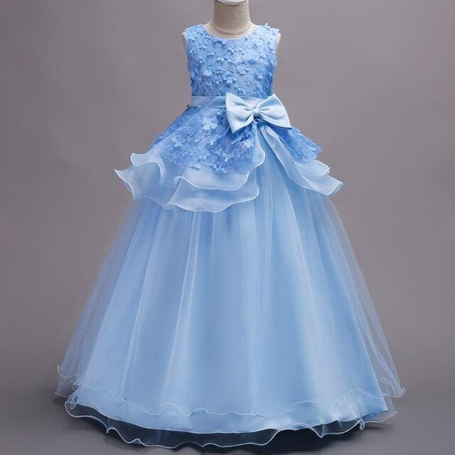 Merek Anak Princess Dress Remaja Gadis Wedding Dress Anak Bunga