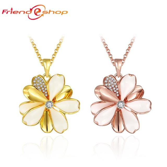 GN915 2 colors rose gold jewelry charms necklace pendientes