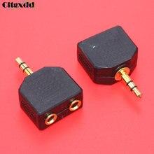 цена на cltgxdd Gold plated 3.5mm 3pole Male plug to Female jack 3.5 Audio Adapter Headphone Splitter 1 to 2 Stereo Dual Track earphone