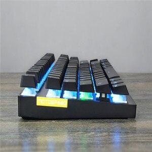 Image 2 - Motospeed Teclado mecánico inalámbrico GK82 2,4G, modo Dual, 87 teclas, mini teclado, retroiluminado con LED, receptor usb