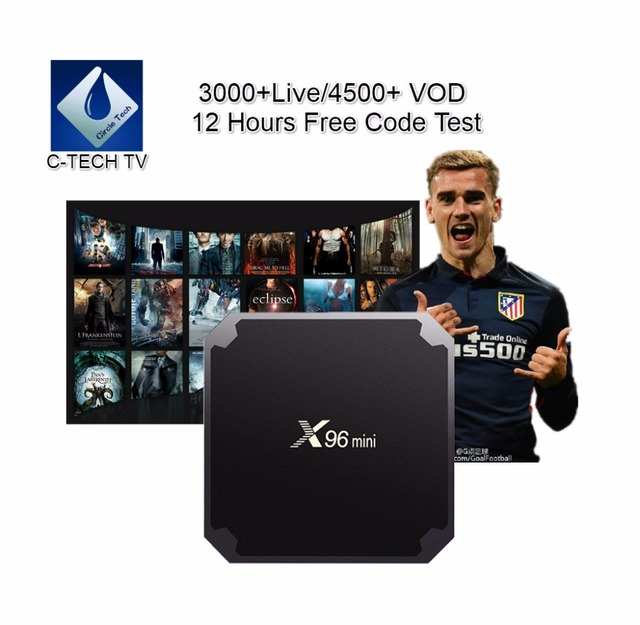 X96 Mini IPTV subscription 1/3/6/12 Months for Android TV Box smart tv mag  device+Italy Belgium Germany UK EX YU Spain package -in Set-top Boxes from