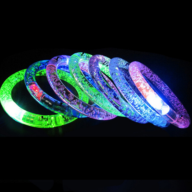 3pcs 2018 Hot Acrylic Glow Bangle Led Bracelet For Birthday Party Decorations Or Kids