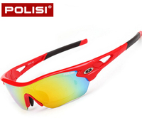 POLOSI Polairzed Professional Cycling Glasses 5 Lenses Women Men Outdoor Bike Bicycle Sunglasses Sports Goggles Eyewear
