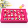 Free Shipping,Wholesale New Rose Red color Jewelry Rings Display Show Case Organizer Tray Box