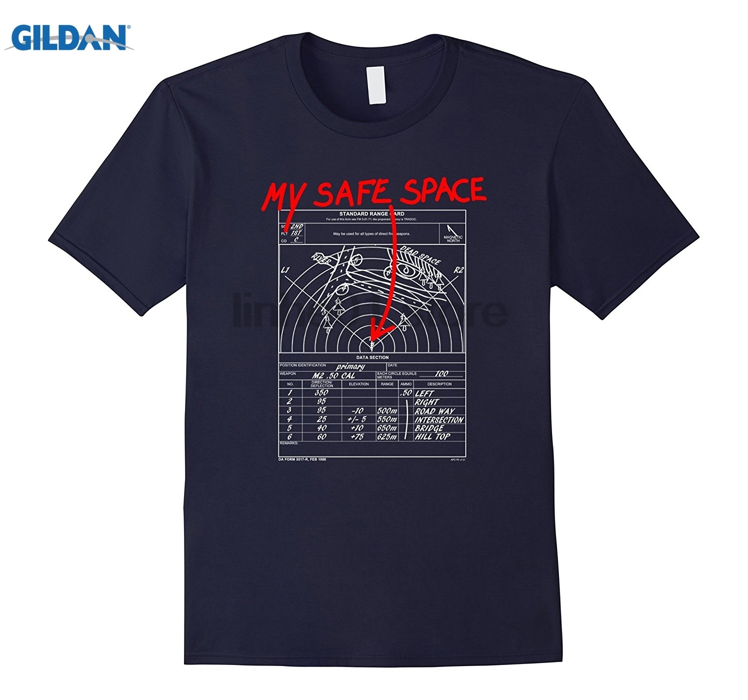 GILDAN Mens My Safe Space - Range Card Shirt summer dress T-shirt Womens T-shirt ...