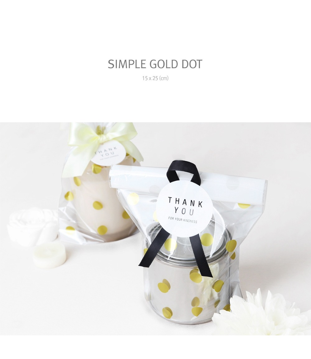 Gold Stripes/Polka dot large cookie bags / small gift bags/bridal ...