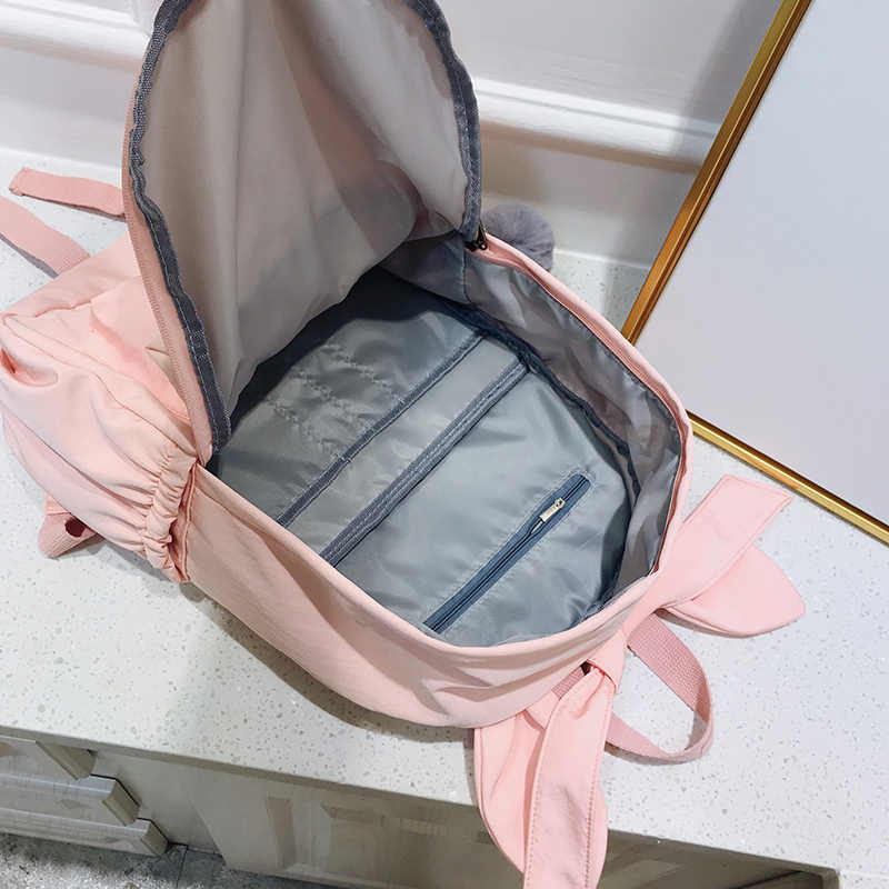 4ca4b5b244c2 ... Cute ear woman backpack Large capacity Waterproof nylon travel backpack  female harajuku schoolbag For Teenage Girls