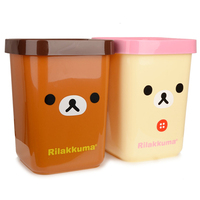 European American Retro trash without cover creative fashion home living room wastebasket trash
