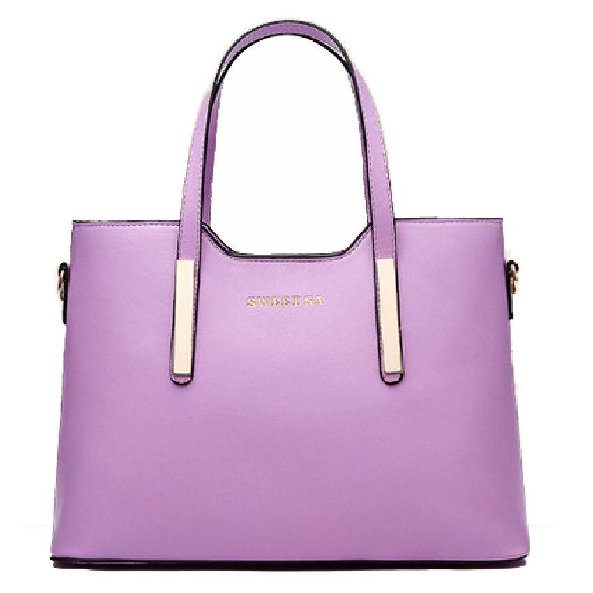09faa471408 2015 Fashion Ladies Large Handbags PU Leather Women Bags Handbags Women  Famous Brands Saffiano Women Shoulder Bag 12 Colors-in Shoulder Bags from  Luggage ...