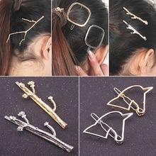 Горячая распродажа женщин дерево ветки единорог квадратная рамка волос штырек аксессуары для волос