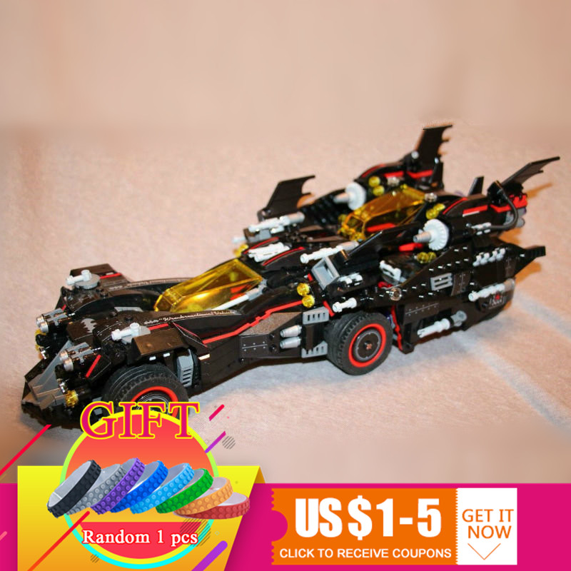 07077 1496pcs The Ultimate Batmobile Set Batman Movie Series Compatible with 70917 Educational Building Blocks 07077 1496pcs batman movie series the ultimate batmobile set diy toys educational building blocks compatible with 70917 lepin