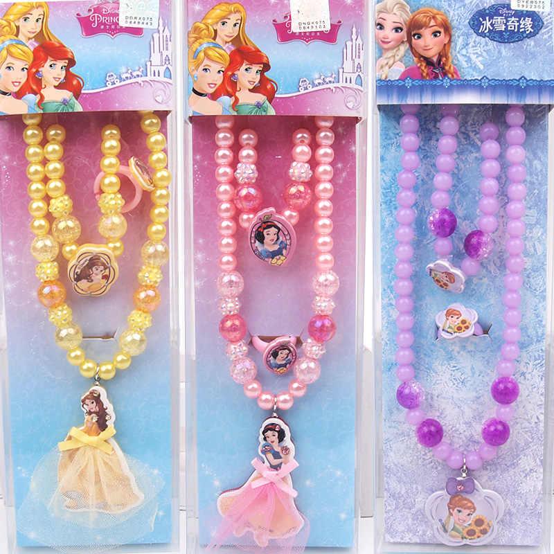 Disney das Crianças Colar Pulseira Anel da Jóia Branca de Neve Branca de Neve Terno Meninas Brinquedos e Presentes Babies'Birthday
