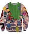 Mulheres camisolas Arnold e amigos Crewneck camisola 90 s dos desenhos animados Hey Arnold filme suam femme camisolas Jumper tops