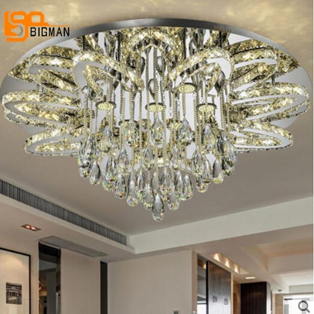 Nouvelle arrivée grand LED lustre salon cristal lampe wideth 100 cm