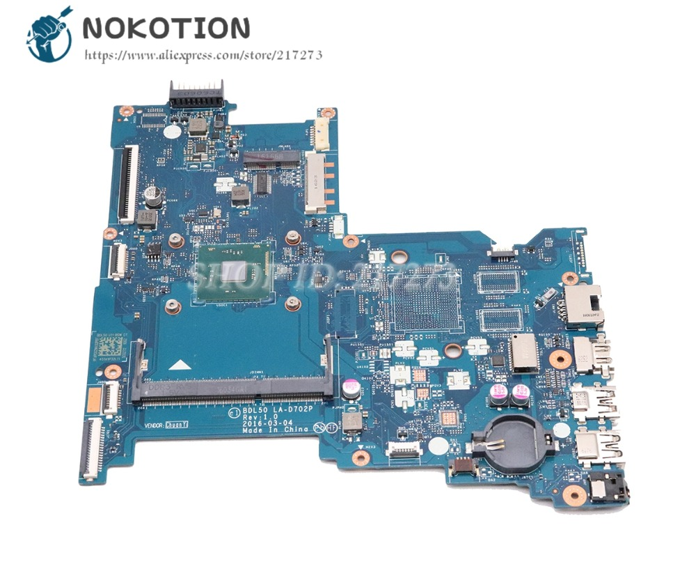 NOKOTION For HP 250 G5 Laptop Motherboard with Processor onboard BDL50 LA-D702P 854944-601 854944-001 Main Board haoshideng 854944 601 854944 001 mainboard for hp 250 g5 laptop motherboard bdl50 la d702p 854944 001 all functions fully tested