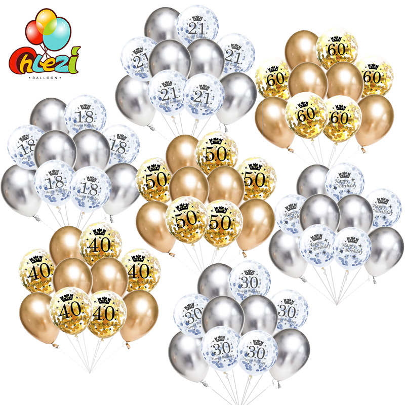 12 x 21st or Rose Paillettes Cupcake Toppers 16 21 18 30 40 50 60 70 80 Anniversaire