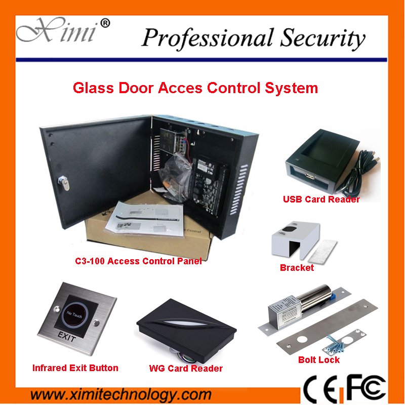 Hot Sale Free Shipping One Door Access Control System TCP/IP Linux System ZK C3-100 Card Access Control Reader free shipping hot sale 100
