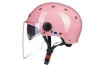 Gratitude Preferential Factory Outlet Motorcycle Summer Double Lens Half Helmet Motor Cascos Capacete De Moto