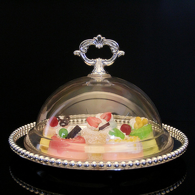 Luxury europe cake plate aulic lid dessert fruit cupcake tray dish acrylic cover dome plate topper wedding party free shipping-in Tureens from Home \u0026 Garden ... & Luxury europe cake plate aulic lid dessert fruit cupcake tray dish ...