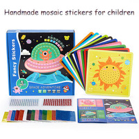 4 HQD 8 pattern design Young children DIY handmade paste paper 3D diamond EVA stickers mosaic paste painting set
