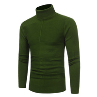 Men Autumn Winter Men Clothing Fashion Turtleneck Solid Slim Fit Pullovers Long Sleeve Knitting Male Warm