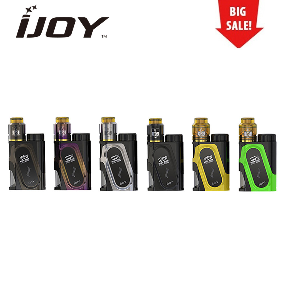 Original IJOY CAPO 100W 20700 Squonker Kit with CAPO Squonker MOD & COMBO RDA Triangle & 9ml Squonk Bottle No Battery Vaping Kit original ijoy saber 100 20700 vw kit max 100w saber 100 kit with diamond subohm tank 5 5ml