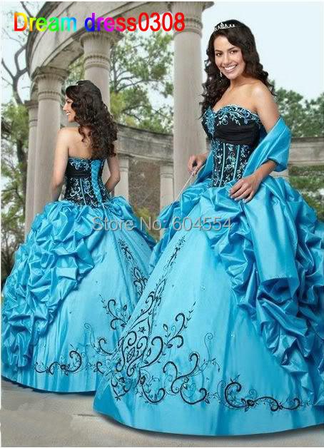 Custom Made Vestidos De Fiesta Mantón Libre y bolso Bordado Rebordear Balón vestido vestido de Quinceañera