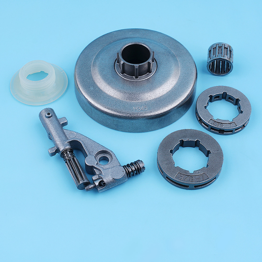3 8inch Clutch Drum Oil Pump Needle Bearing Kit For Jonsered CS2156 CS2159 2156 2159 Chainsaw Rim Sprocket 7 Tooth Replacement Part