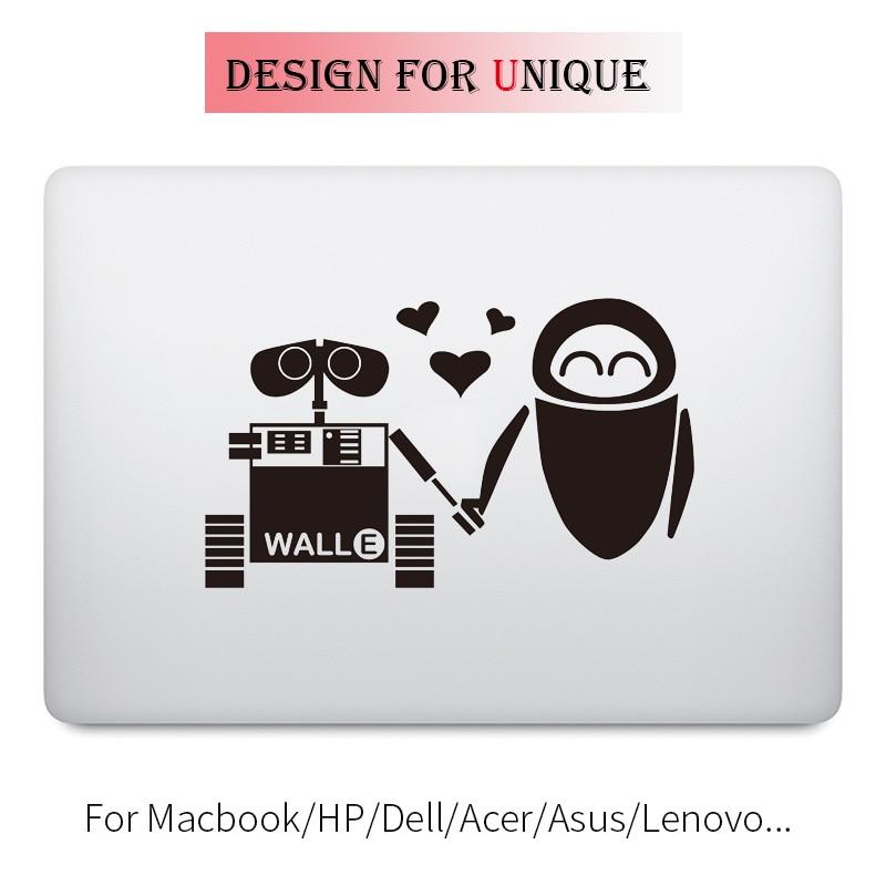 Sweet Robot Lover Laptop Decal Sticker for Apple Macbook Pro Air Retina Touch Bar 11 12 13 15 inch Vinyl Mac Notebook Skin Decal