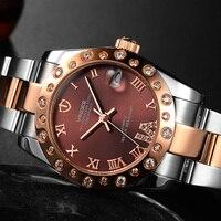 VINOCE 2016 Luxury Crystal Diamond Watch Women Elegant Stainless Steel Ladies Watches 100M Waterproof Relogio Feminino