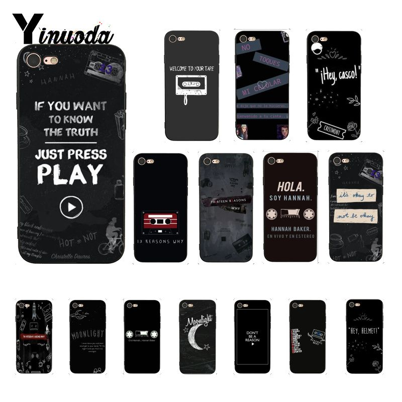 Yinuoda <font><b>13</b></font> <font><b>Reasons</b></font> <font><b>Why</b></font> Poster Cover Black Soft Shell <font><b>Phone</b></font> <font><b>Case</b></font> for iPhone 8 7 6 6S Plus X XS MAX 5 5S SE XR Fundas Capa image