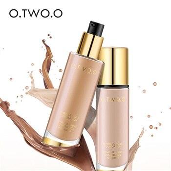 O. DOIS. O Líquido Fundação Invisível Cobertura Completa Maquiagem Corretivo Clareamento Hidratante Fundação Maquiagem À Prova D' Água 30 ml